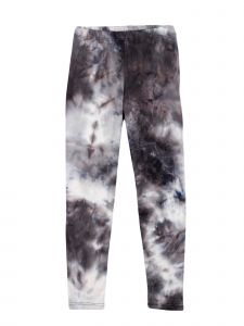 Lori Jane Little Girls Navy Black White Tie Dye Stretchy Leggings 4-5