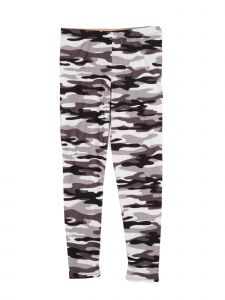 Lori Jane Little Girls Gray White Camo Stretchy Leggings 4-5