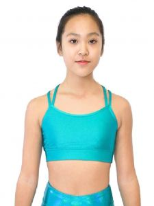 Veva by Very Vary Big Girls Turquoise Liberty Crop Top 8-12