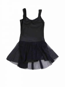 Annie Big Girls Black Lily Skirted Dance Leotard 6-12