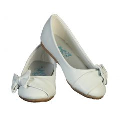Lito Girls White Bow June Special Occasion Dress Shoes 11-4 Kids