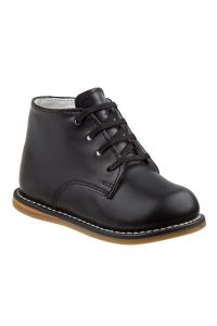 Josmo Unisex Black Leather Logan First Walker Shoes 2 Baby-8 Toddler