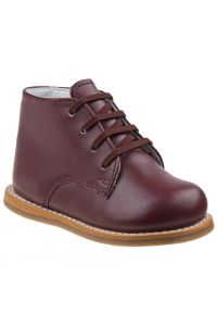 Josmo Unisex Burgundy Leather Logan First Walker Shoes 2 Baby-8 Toddler