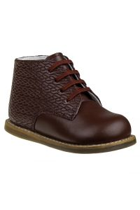 Josmo Unisex Burgundy Woven Leather Logan First Walker Shoes 2 Baby-8 Toddler