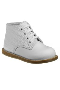 Josmo Unisex White Woven Leather Logan First Walker Shoes 2 Baby-8 Toddler