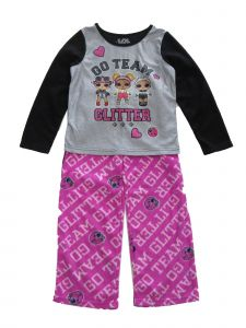 LOL Girls Big Girls Black Gray Pink 2pc Long Sleeve Top Bottoms Pajama Set 6-12