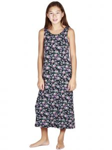 Lori Jane Big Girls Floral Maxi Trendy Dress 6-16