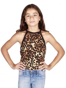 Lori Jane Big Girls Cheetah Tank Top 10-16