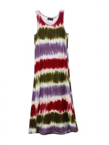 Lori Jane Big Girls Stripe Tie Dye Maxi Trendy Dress 6-16
