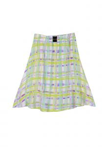 Lori Jane Big Girls Green White A Line Skirt 6-16