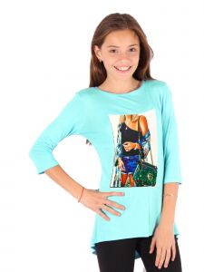 Lori Jane Big Girls Mint Graphic Tunic 6-14
