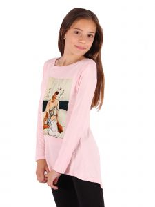Lori Jane Big Girls Pink Graphic Tunic 6-14