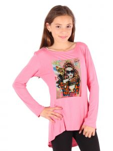 Lori Jane Big Girls Coral Graphic Tunic 6-14