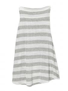 Lori Jane Big Girls Gray Stripe Long Skirt 6-16