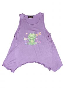 Lori Jane Big Girls Lavender Graphic Tank Top 6-16