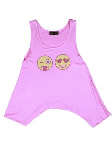 Lori Jane Big Girls Pink Graphic Tank Top 6-16