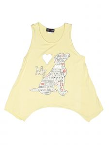 Lori Jane Big Girls Yellow Graphic Tank Top 6-16