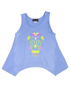 Lori Jane Big Girls Blue Graphic Tank Top 6-16