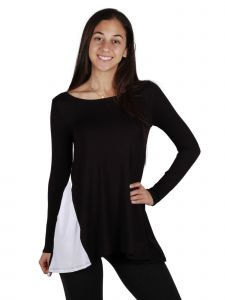 Lori Jane Big Girls Black And White Long Sleeve Tunic Dress Top 6-16