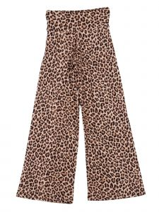 Lori Jane Big Girls Brown Tan Cheetah Print Palazzo Pants 7-14