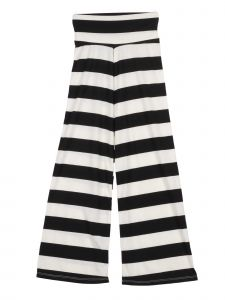 Lori Jane Big Girls Black White Stripe Palazzo Pants 7-14