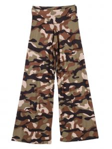 Lori Jane Big Girls Olive Brown Tan Camo Print Palazzo Pants 7-14