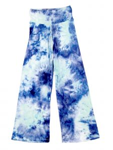 Lori Jane Big Girls Blue Tie Dye Print Palazzo Pants 7-14