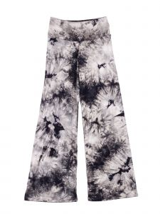 Lori Jane Big Girls Black Tie Dye Print Palazzo Pants 7-14