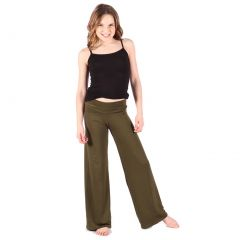Lori & Jane Big Girls Green Palazzo Pants 14