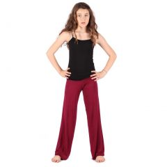 Lori & Jane Big Girls Burgundy Palazzo Pants 4/14