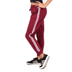 Lori & Jane Big Girls Burgundy Side Stripe Adjustable Waist Sweatpants 7-14
