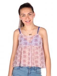 Lori & Jane Big Girls Lavender Polka Dots Straps Summer Tank Top 6-14