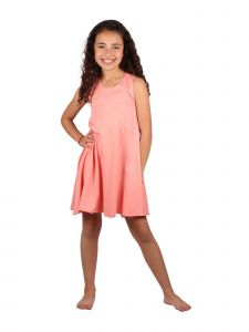 Lori & Jane Big Girls Coral Asymmetric Casual Summer Tank Tunic Dress 6-14