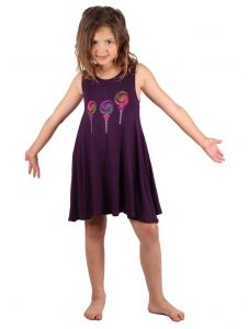 Lori & Jane Big Girls Purple Lollipop Studs Sleeveless Tunic Dress 6-14