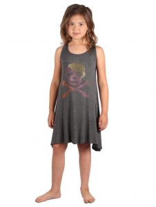 Lori & Jane Big Girls Charcoal Studs Sleeveless Tunic Dress 6-14