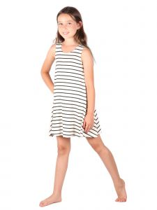 Lori Jane Big Girls Black And White Trendy Dress 6-14