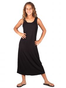 Lori & Jane Big Girls Black Sleeveless Trendy Maxi Dress 6-14