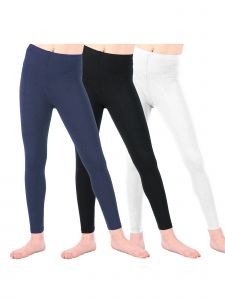 Lori & Jane Big Girls Black White Navy 3 Pc Leggings 8-14