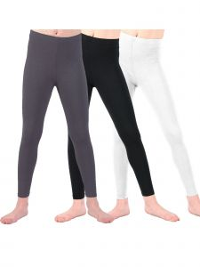 Lori & Jane Big Girls Black White Charcoal 3 Pc Leggings 8-14