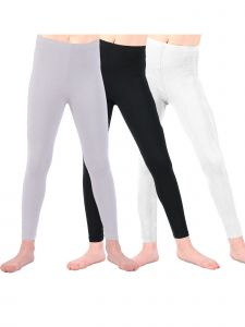 Lori & Jane Little Girls Black White Gray 3 Pc Leggings 4-6
