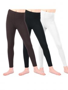 Lori & Jane Big Girls Black White Brown 3 Pc Leggings 8-14