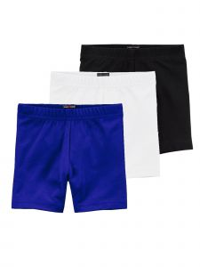 Lori & Jane Big Girls Black White Royal Blue 3 Pc Shorts 8-14
