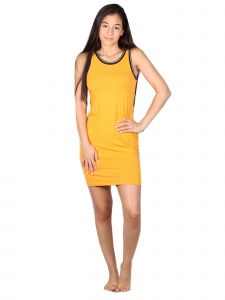 Lori&Jane Big Girls Mustard Trendy Tank Dress 10-16