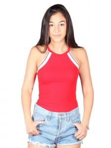Lori&Jane Big Girls Red White Tank Top 10-16