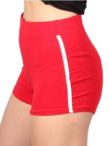 Lori&Jane Big Girls Red Side Stripe Shorts 10-16