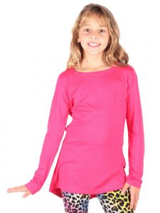 Lori&Jane Big Girls Hot Pink Long Sleeve Tunic 6-14