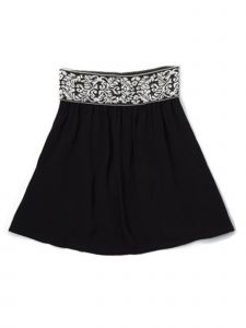 Lori Jane Big Girls Black A Line Skirt 6-16