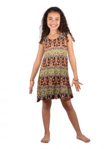 Lori Jane Big Girls Multi Color Trendy Dress 6-14