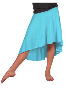 Lori Jane Big Girls Blue Sky Hi-Low Skirt 6-16
