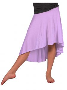 Lori Jane Big Girls Lavender Hi-Low Skirt 6-16